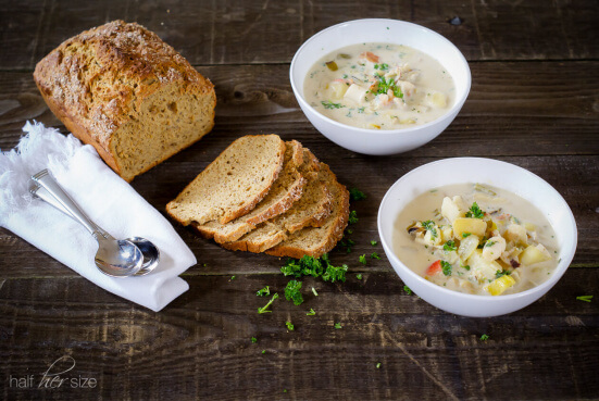 Tender potatoes, flavorful fish, and a variety of shellfish come together in this comforting, Galway inspired, Irish seafood chowder.