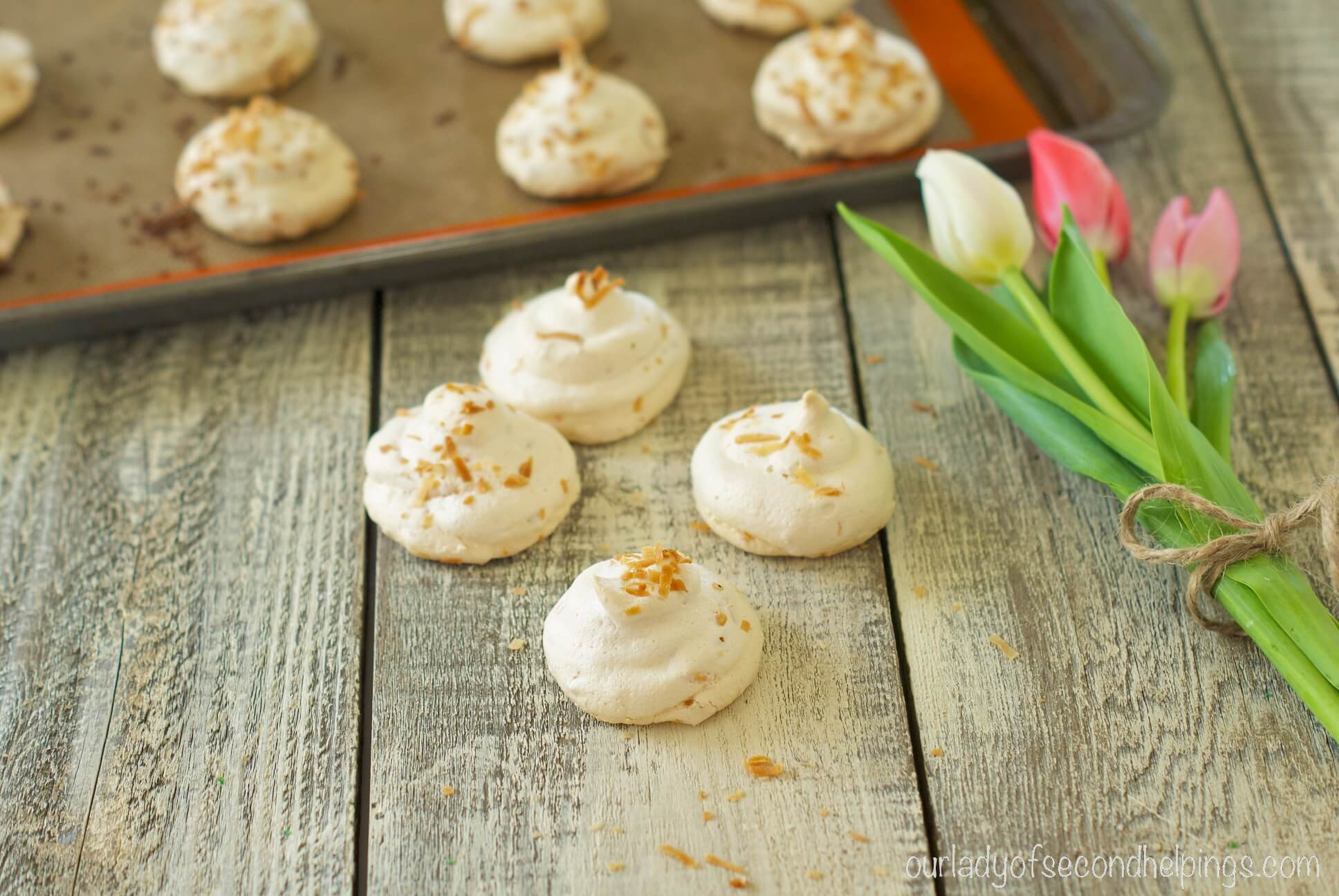 Finished Coconut Meringues