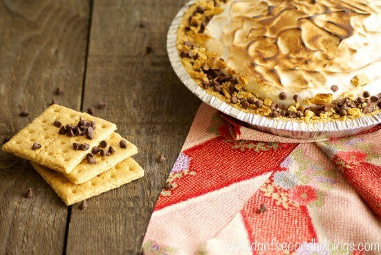 Toasted Meringue Topped S'more Pie