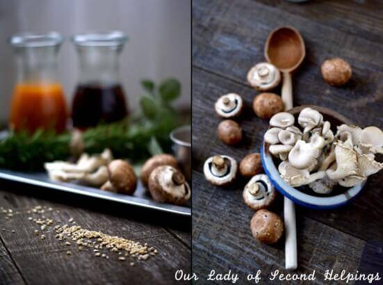 Ingredients for oat risotto