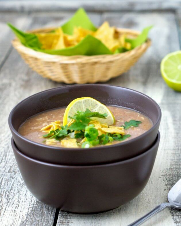 Thanks to flavorful simple ingredients, southwest bean soup is an easy to prepare healthy weeknight meal the family will devour.