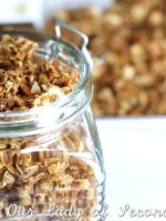 Lightly sweet and perfectly toasted, coconut-almond granola pairs beautifully with fresh fruit and makes a delicious topping for yogurt or ice cream.