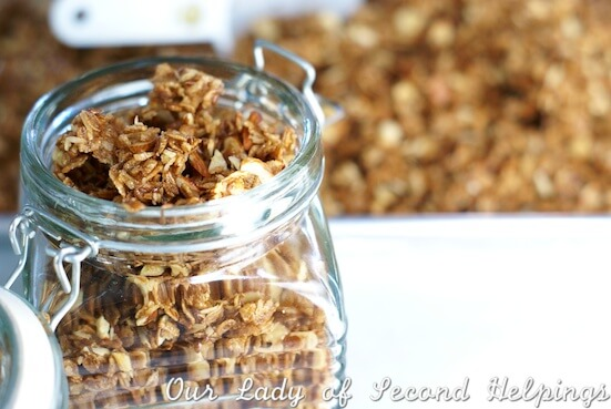 Coconut-Almond Granola - super quick & easy!   Our Lady of Second Helpings