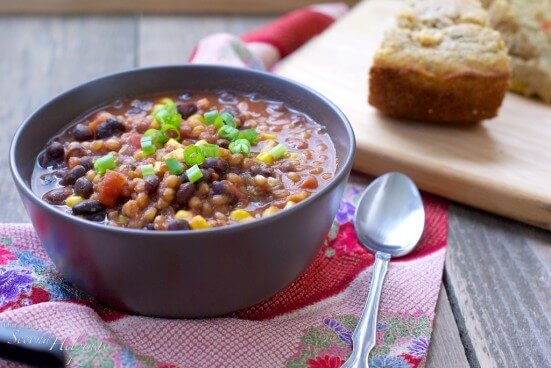 No need to pick up a knife to make this recipe. Healthy wheat berries add a great texture to this flavorful slow cooker chili, perfect for busy home cooks.
