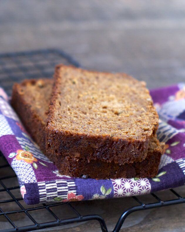 Molasses Banana-Oat Bread hearty with a subtle sweetness. Perfectly satisfying as a wholesome snack or quick meal on the go. An excellent recipe to use over-ripe bananas.