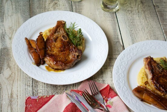 Pasture Raised Pork Chops with Pears and Cider | Our Lady of Second Helpings