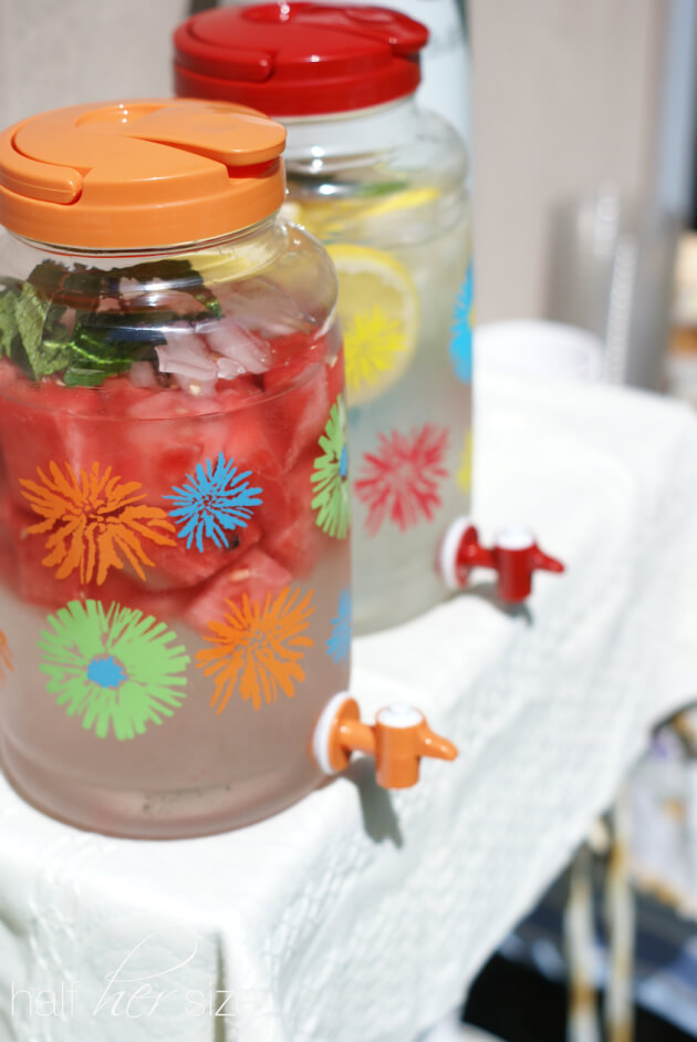 Add slices of fruit, vegetables, or herbs to water to make a refreshing (calorie free) beverage