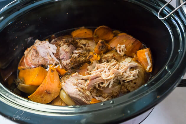 Crock Pot Pulled Pork with Sweet Potatoes