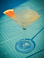 Grapefruit and Rosemary Gin and Tonic Cocktail