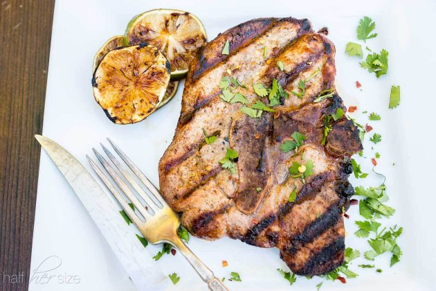 Chili Lime Pork Chops recipe