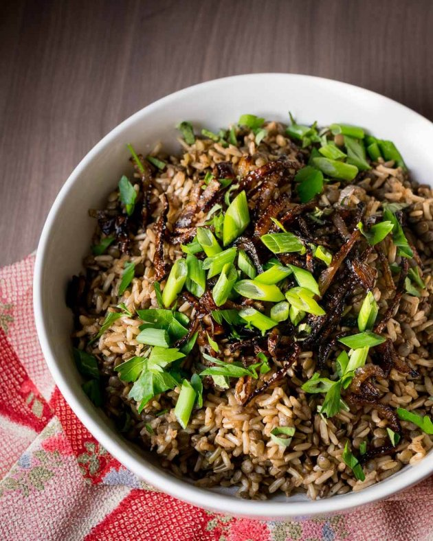 Rice Pilaf with Lentils