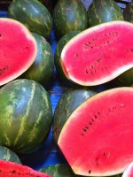 watermelons, cut watermelons