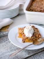 Crustless Pumpkin Pie with Pecan crumble
