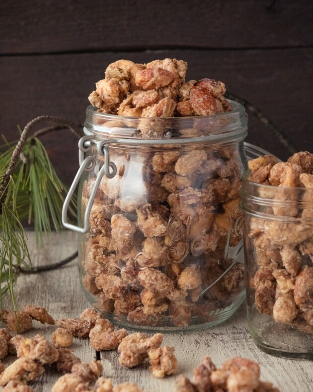 Candied Nuts with cinnamon and ginger