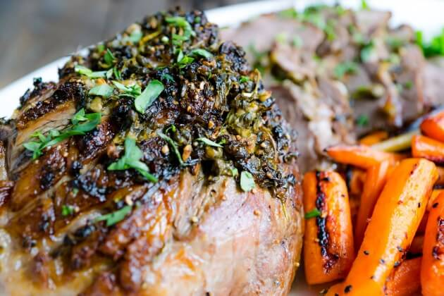 roasted boneless leg of lamb with tarragon