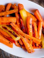 side dish - honey-ginger roasted carrots.