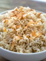 Light and fluffy, quick coconut rice couldn't be easier. Only 3 ingredients! Aromatic with subtly sweet coconut flavorful.